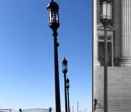 befor & after Street Light Pole