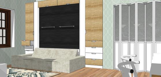 Studio Murphy bed/living room