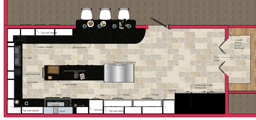 Senior citizen center kitchen- Floor Plan