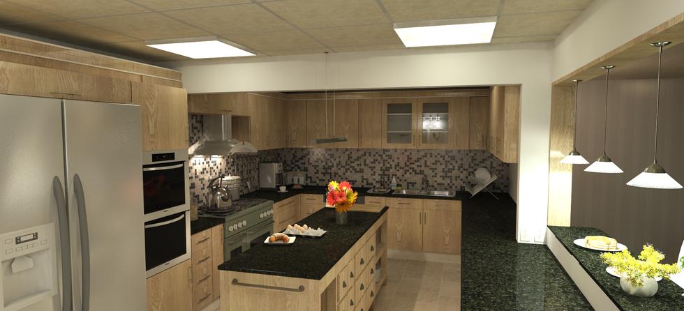 Senior citizen center kitchen
