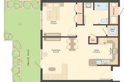 2D Marketing Floor Plan
