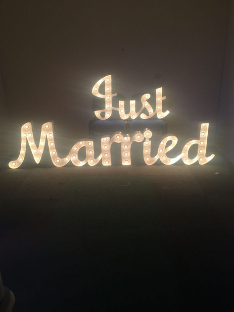 JUST MARRIED 3FT LETTERS