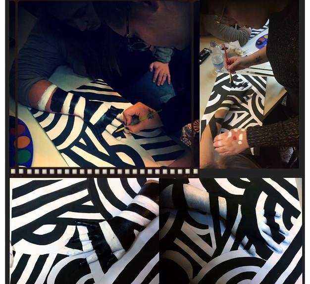Preparazione body painting