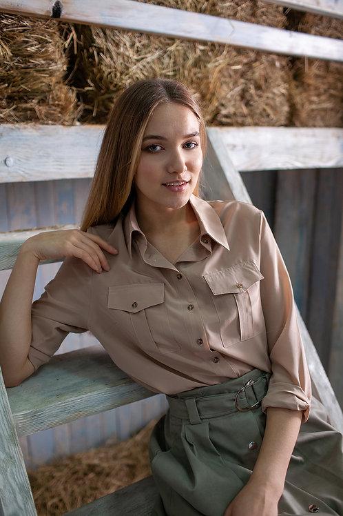 Женская рубашка кофе с молоком