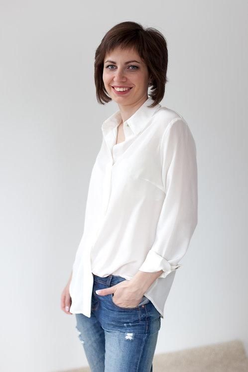 Женская рубашка белая