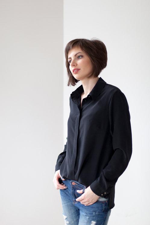Женская рубашка черная