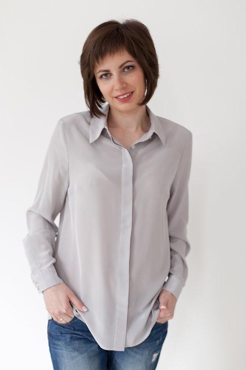 Женская рубашка серая