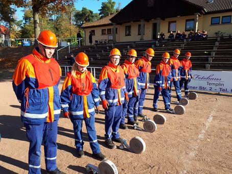Abnahme der Jugendfeuerwehr-Leistungsspange in Templin