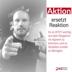 Action ersetzt Reaktion