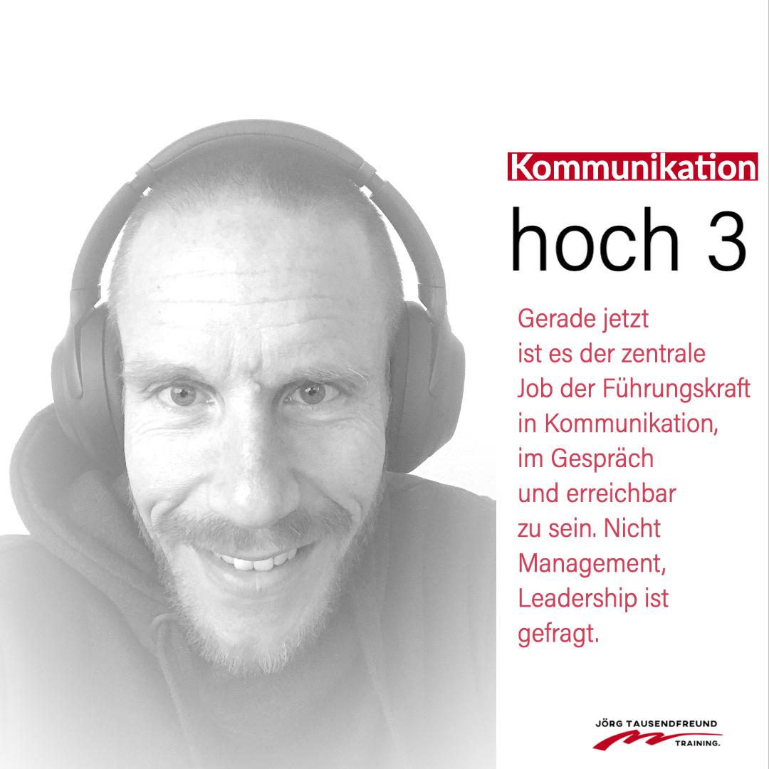 Kommunikation hoch 3