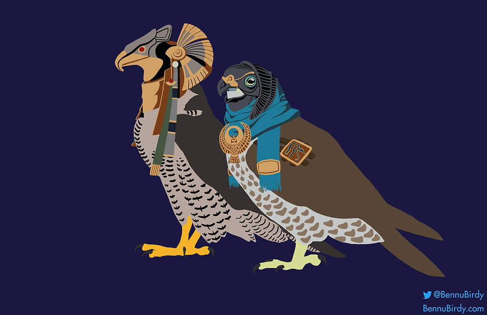 Halloween: Star Gate Falcon and Assassin's Creed Origins Falcon