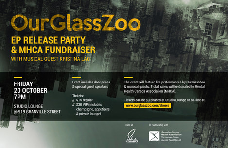 OurGlassZoo EP release party & MHCA fundraiser