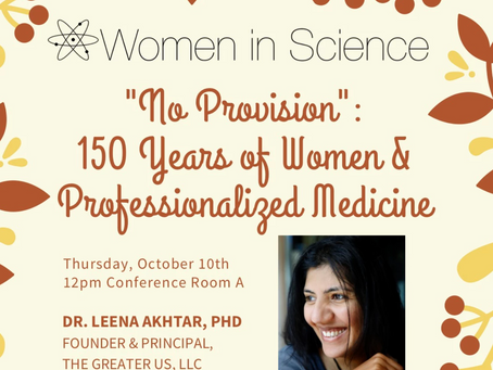 """No Provision"": 150 Years of Women in Professionalized Medicine (talk)"