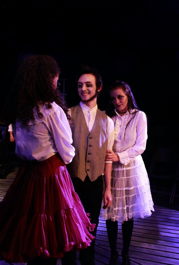 Player 6 in Nevermore: the Imaginary Life and Mysterious Death of Edgar Allan Poe (far right) - Pipe Dreams Studio Theatre