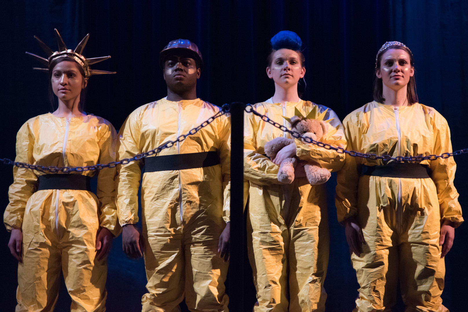 Jenny in Mr. Burns: a Post-Electric Play (blue mohawk) - Millikin University