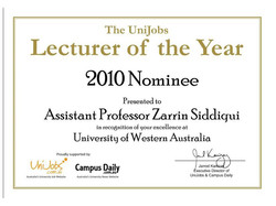 It is with great pleasure that I congratulate you on being one of top nominees of the 2010 UniJobs L