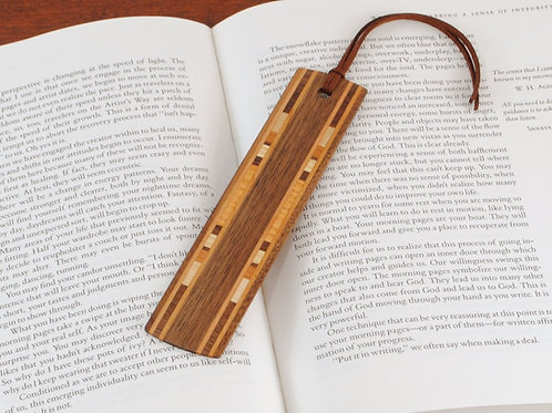 Wooden Bookmark-Black Walnut with Maple and Cherry