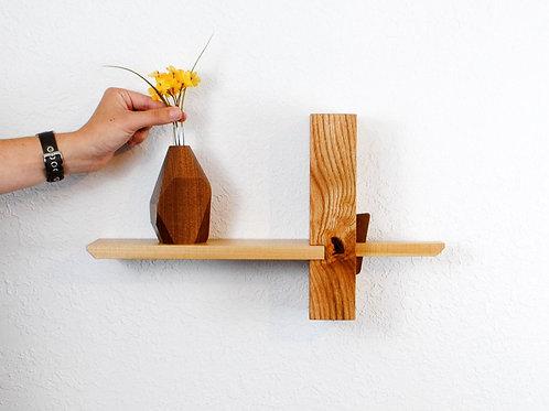 Koji Wall Shelf-Rustic Oak with Elm shelf