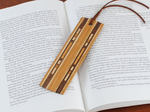 Wooden Bookmark-Cherry with Walnut and Maple