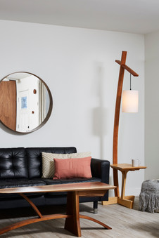 Chrysalis Coffee table and Addison Lamp