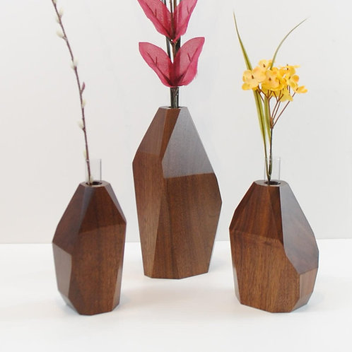 Mini Black Walnut Flower Vase