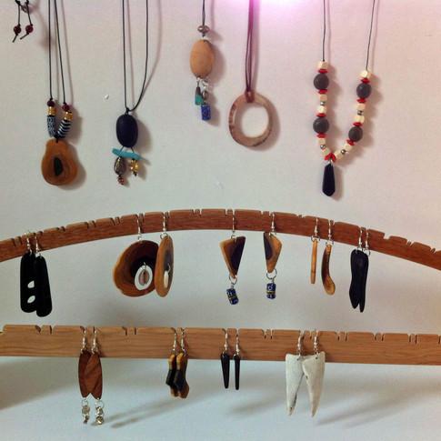 A variety of handmade jewelry