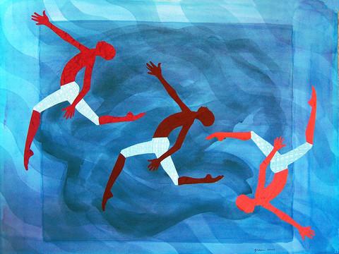 Three Leaping