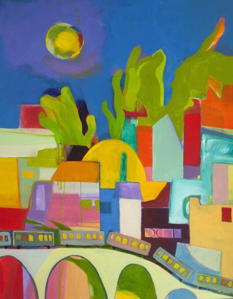City Scene with El Train