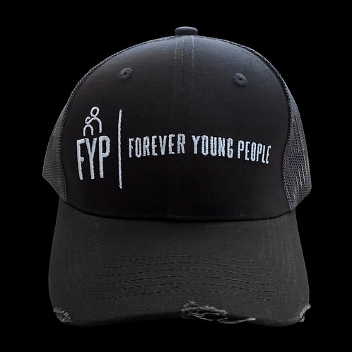 Grey Distressed FYP trucker Hat