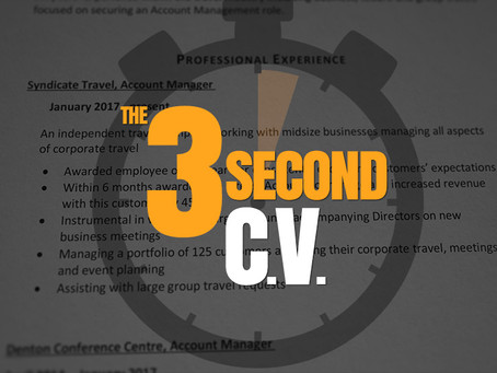 The 3 second CV