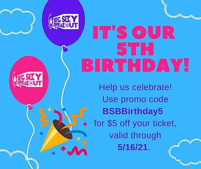 Bright Balloons Long Distance Birthday F