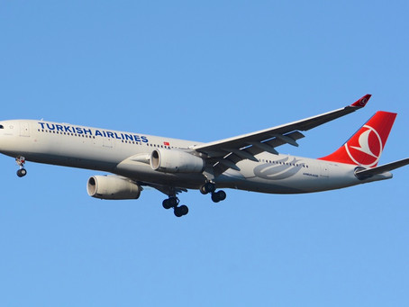 A Turkish Airlines Airbus A330 Initiates Takeoff Roll From The TAXI WAY in Newark