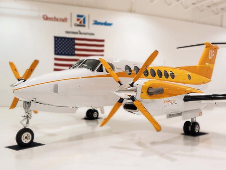 Wheels up's new King Air 350i to be used for 'Feeding America'