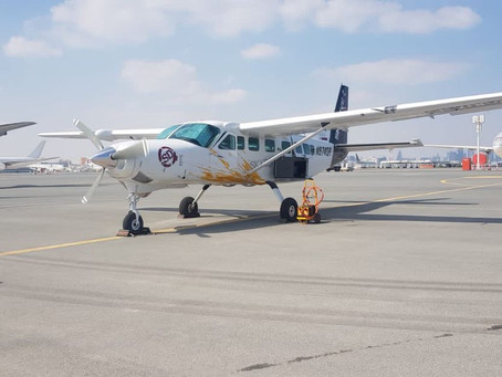 Cessna Caravan to be used for Sky Diving in Dhaalu departs on ferry flight to the Maldives