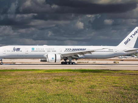 Worlds first Boeing 777-300ER converted to freighter will fly formation flight today