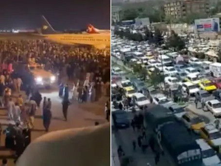 Chaos At Kabul Airport As Thousands Attempt To Flee The Capital