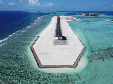 National airline Maldivian takes off for the first flight to Hoarafushi Airport