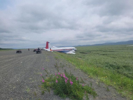 A Transnorthern Douglas DC3 Veered Off The Runway During Landing