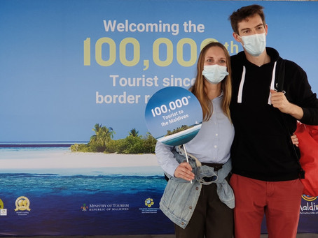 100,000th tourist since border reopening arrives in the Maldives
