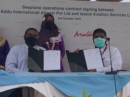 Maldivian signs agreement with  Addu International Airport to commence Seaplane operation
