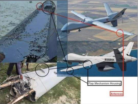 Aircraft wing found in Dh.Meedhoo most likely to be from a US Air-force MQ-9 Reaper