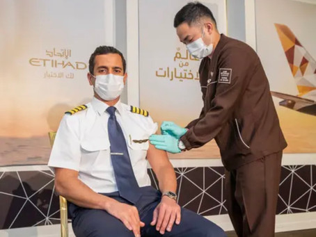 Etihad Airways becomes the first airline in the world to vaccinate all operating crew
