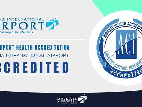 Velana International Airport has been accredited as safe travel by Airports Council International