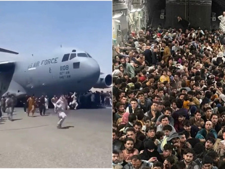 The US Air Force C17 Carried 800 Passengers As It Took Off From Kabul Airport Yesterday