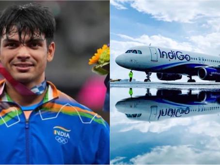 Indigo Offers Olympic Gold Medalist Neeraj Chopra Free Flights For One Year