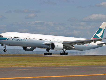 Cathay Pacific carried less than 600 passengers PER DAY in March