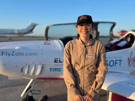 19-Year-Old Zara Is Attempting To Break Record Flying Solo Around The World