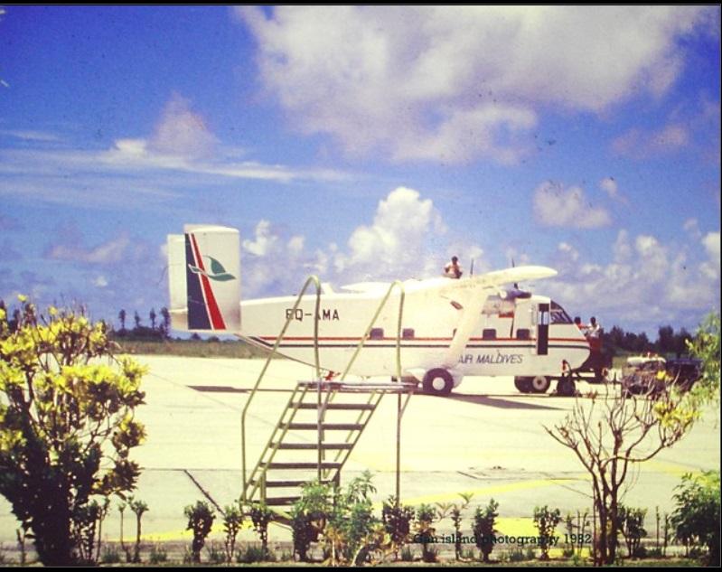 Skyvan Shorts skyvan Refueling in Gan Airport