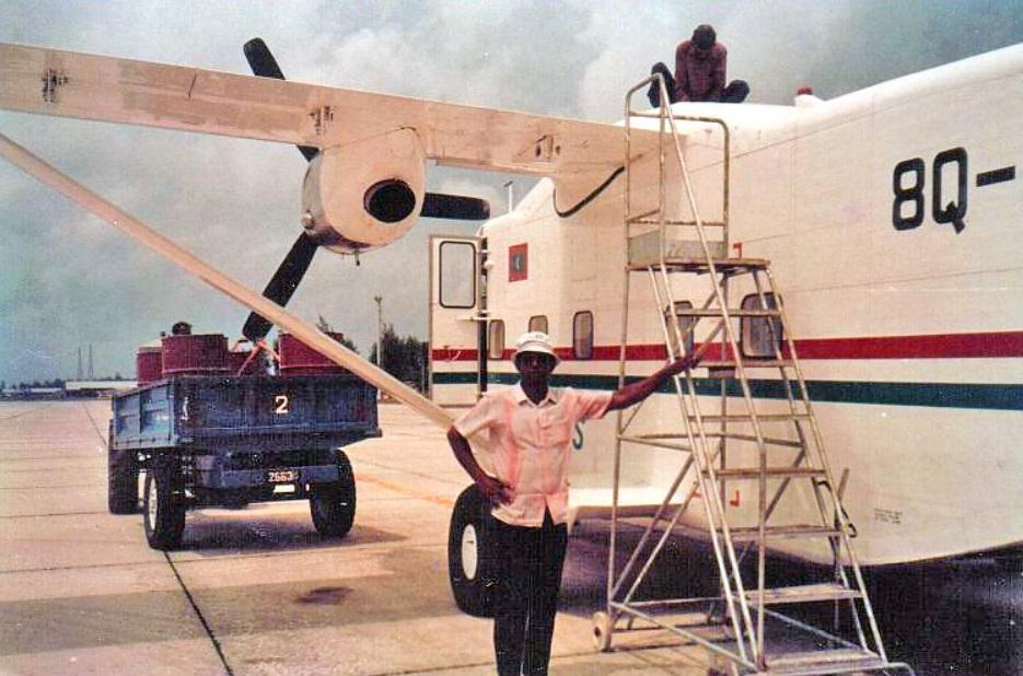 Follow Skywan 8Q refueling Addu Gan Airport 1985