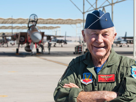 Chuck Yeager, the first pilot to break the speed of sound dies age 97.